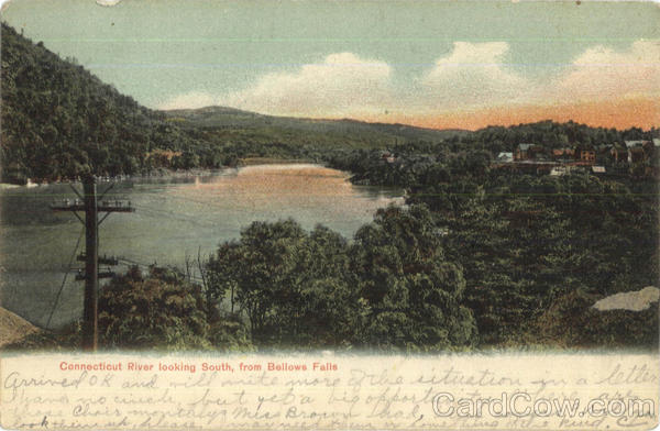 Connecticut River Looking South Bellows Falls Vermont