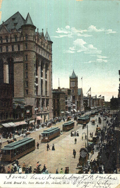 Broad St., From Market St. Newark New Jersey