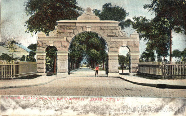 Entrance To Bay View & N.Y. Bay Cemeteries Jersey City New Jersey