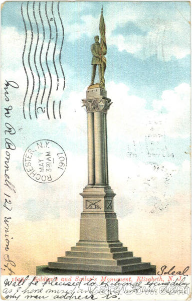 Soldier's And Sailor's Monument Elizabeth New Jersey