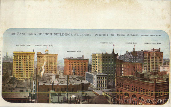 Panorama Of High Buildings St. Louis Missouri