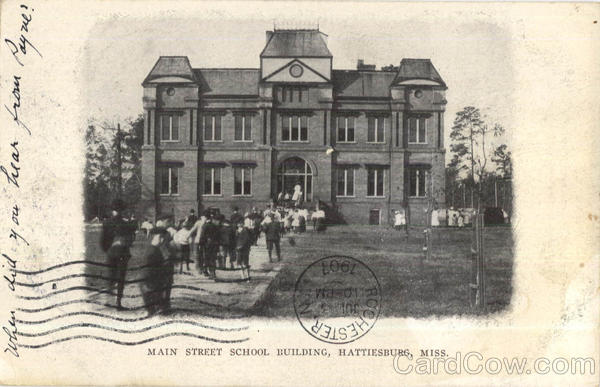 Main Street School Building Hattieburg Mississippi