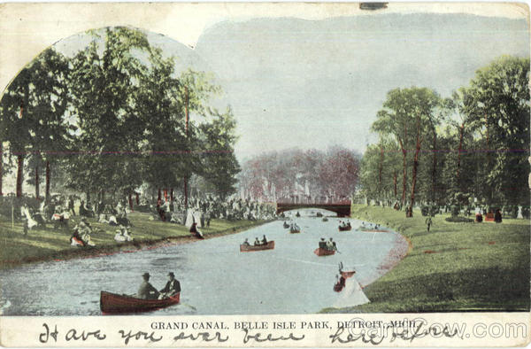 Grand Canal, Belle Isle Park Detroit Michigan
