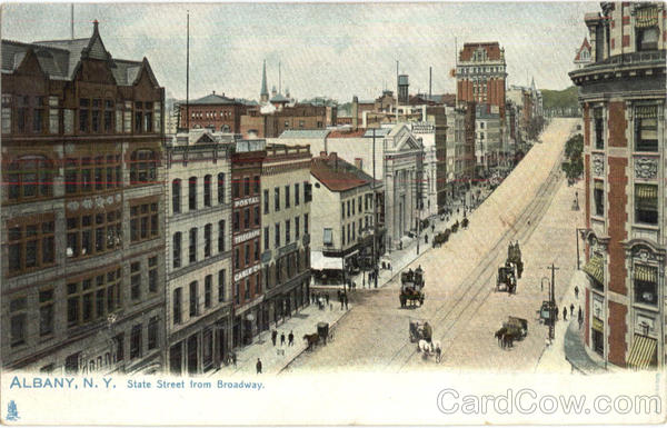 State Street From Broadway Albany New York
