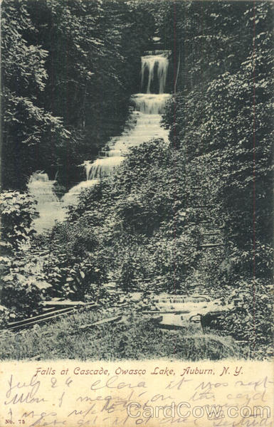 Falls At Cascade, Owasco Lake Auburn New York
