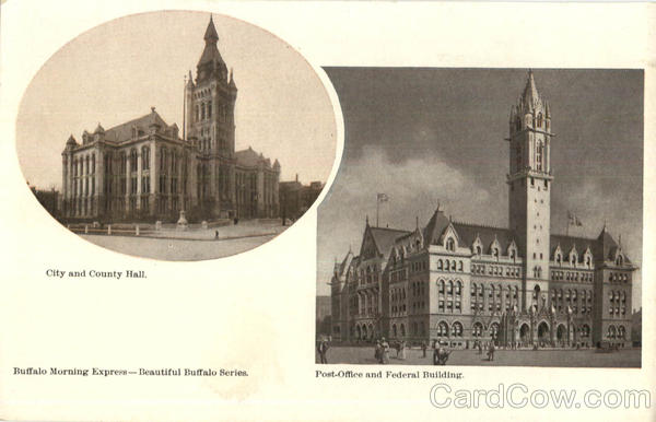 City And County Hall Post Office And Federal Building Buffalo New York