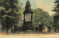 Monument To Men Who Fell On Lexington Green