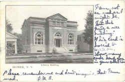 Library Building Postcard