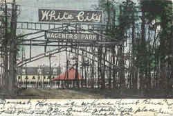 The Entrance To White City Postcard