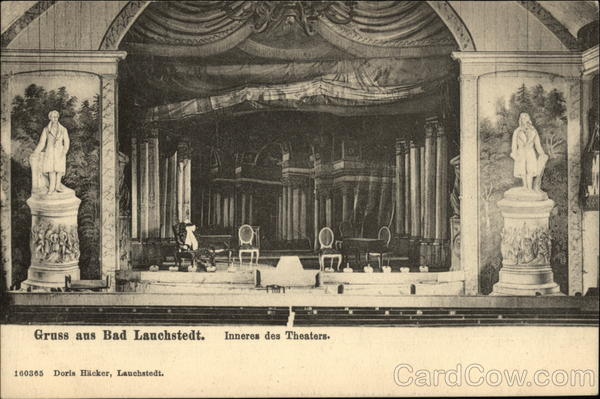 Interior of Theater Bad Lauchstedt Germany