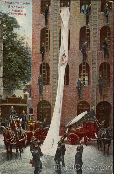 Amsterdam Fire Brigade - Fire Drill Netherlands Benelux Countries