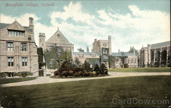 Mansfield College Oxford England Oxfordshire