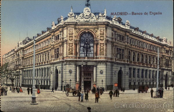 Banco de España Madrid Spain Spain, Portugal