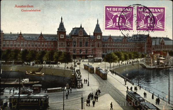 Central Station Amsterdam Netherlands Benelux Countries
