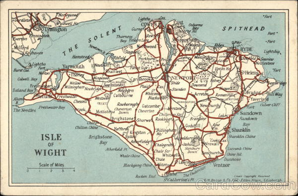 Isle of Wight Road Map Maps