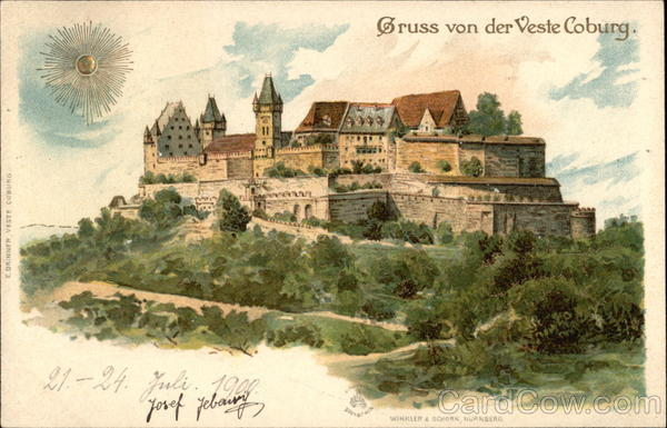 View of Coburg Fortress Germany