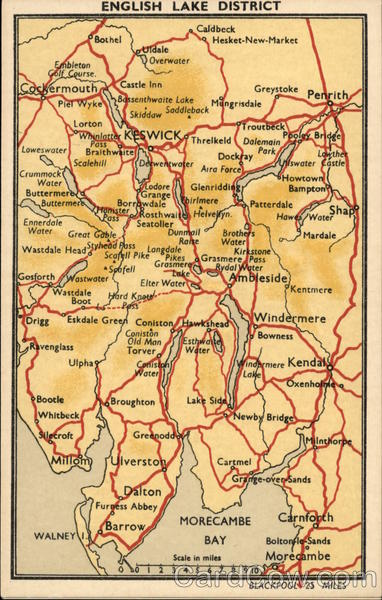 Map Of English Lake District Maps
