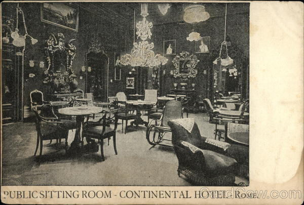 Continental Hotel - Public Sitting Room Rome Italy