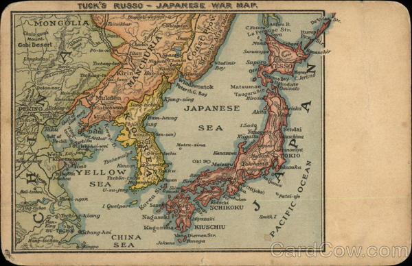 Russo-Japanese War Map Maps