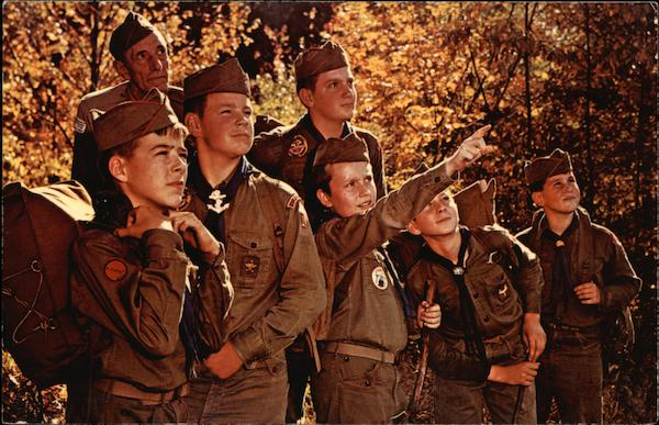 Boy Scouts at Camp Bomazeen North Belgrade Maine