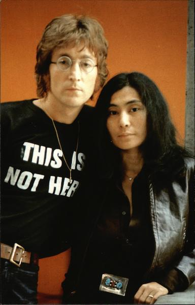 John Lennon and wife Yoko Ono Celebrities