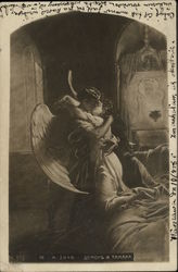 Angel Kissing a Woman Postcard