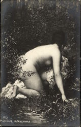 Nude Woman in Bushes