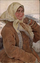 Woman in the winter outfit