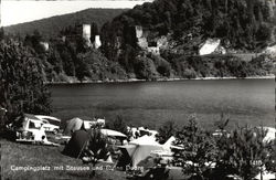 Campsite by the Dobra Castle and Reservoir