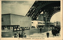 Exposition Internaionale Paris 1937 - Champ-de-Mars and Base of Eiffel Tower