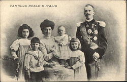 Italian Royal Family - Victor Emmanuel III, Queen Elena and children