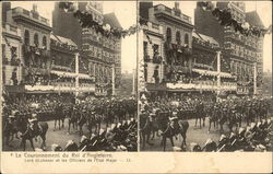 Coronation King of England - showing Lord KItchener and Other Officers Postcard