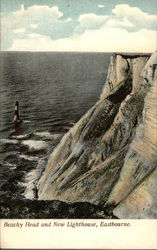 Beachy Head and New Lighthouse Postcard