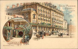 First Avenue Hotel Postcard