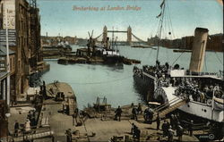 Embarking at London Bridge Postcard
