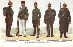 Austrian military (1899 to 1918) various ranks