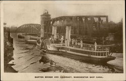 Barton Bridge and Aqueduct, Manchester Ship Canal Postcard