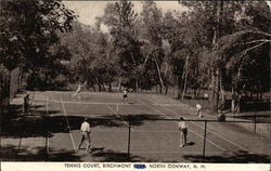 Tennis Court, Birchmont Club Postcard