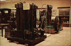 Early Edison bi-polar generator and steam engine