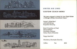 United Air Lines - Custom Coach Menu