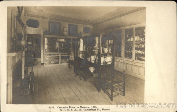 Photograph of Ceramics Room in Museum, 1795 Boston Massachusetts