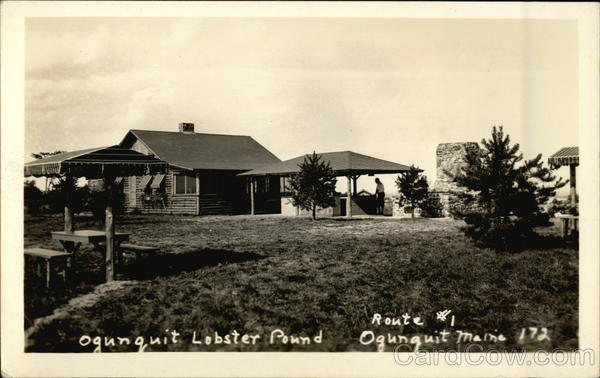 Vintage Photograph of Lobster Pound Ogunquit Maine