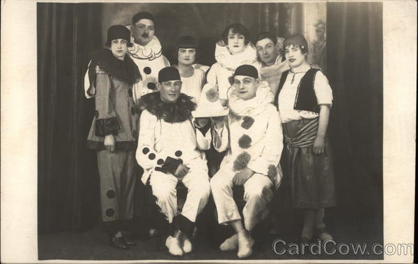 People Dressed Up as Italian Clowns Theatre