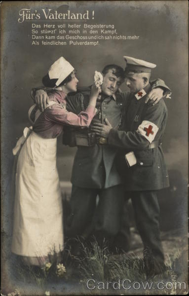 A Nurse and Doctor helping a Wounded Soldier Doctors & Medicine
