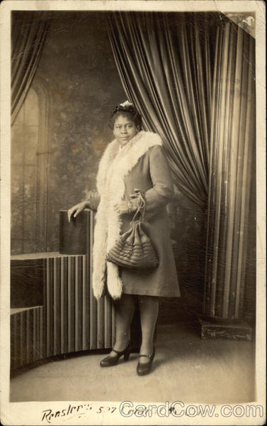Black Woman in Fur-Trimmed Coat Black Americana