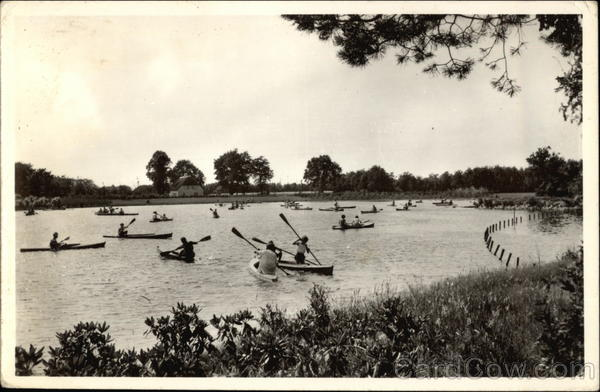 Photograph of Canoes on the Lake Canoes & Rowboats