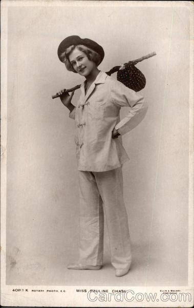 Miss Pauline Chase as Hobo Postcard