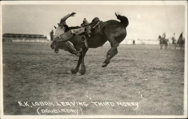 E.K. Loban Leaving Third Money (Doubleday) Rodeos