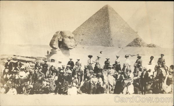 Sphinx and Pyramid Cairo Egypt Africa