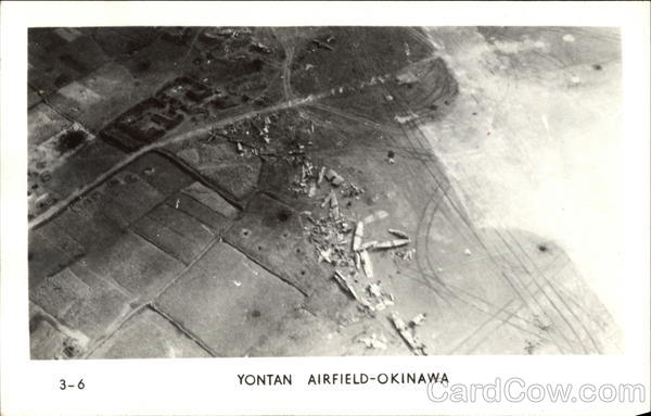 Aerial View of Yontan Airfield - Okinawa Military